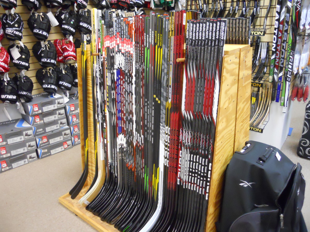 Choose a hockey stick that is the right size and flex for your player