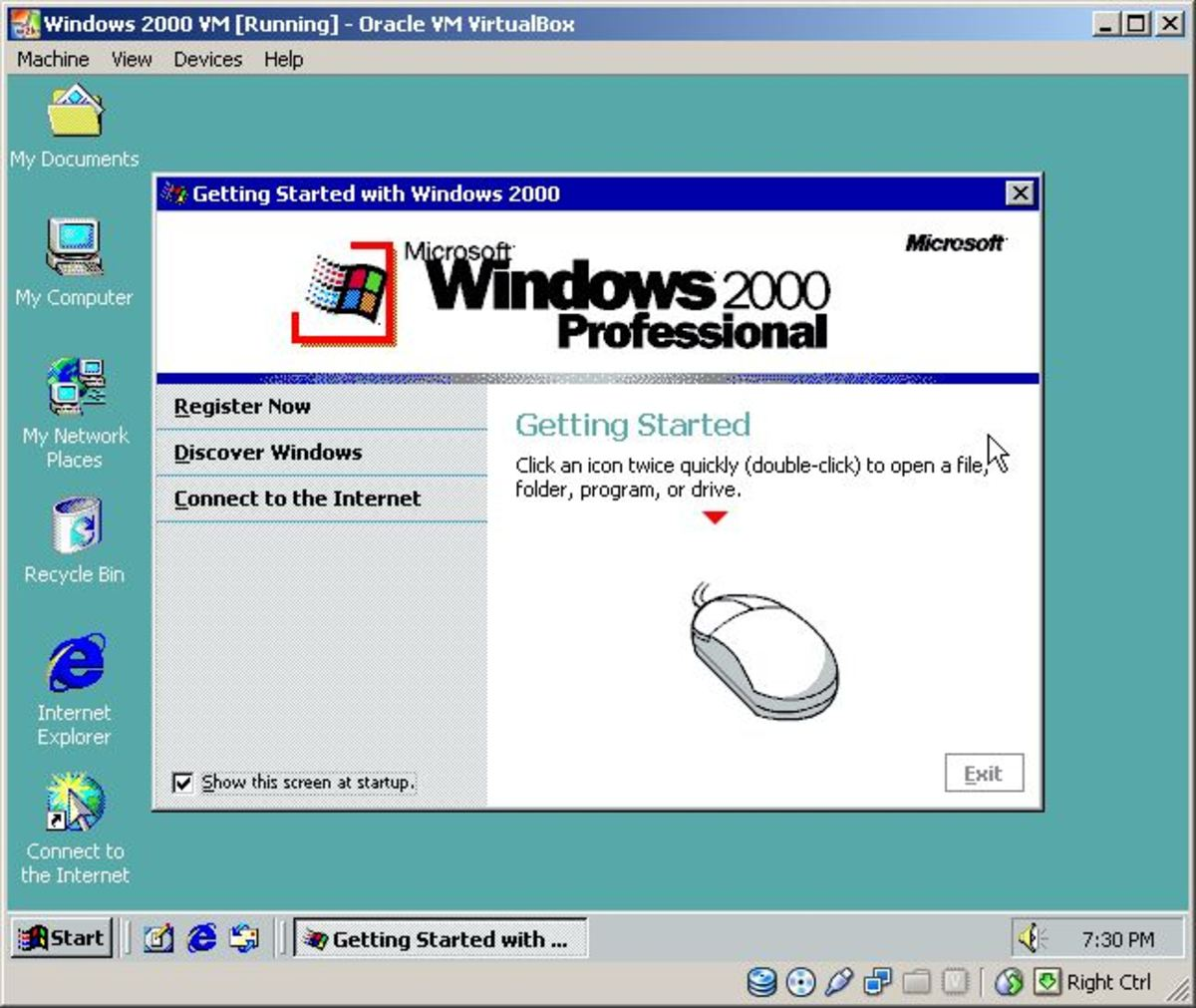 Install Windows 2000 Professional In Oracle VM VirtualBox