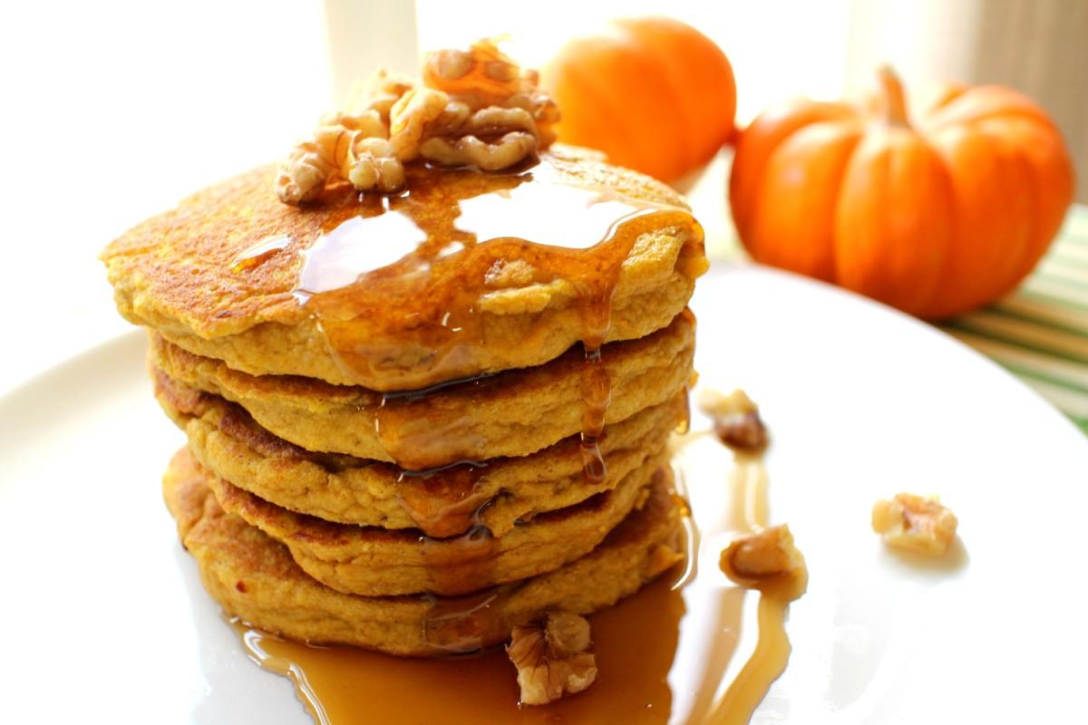 Protein Pumpkin Paleo Pancakes