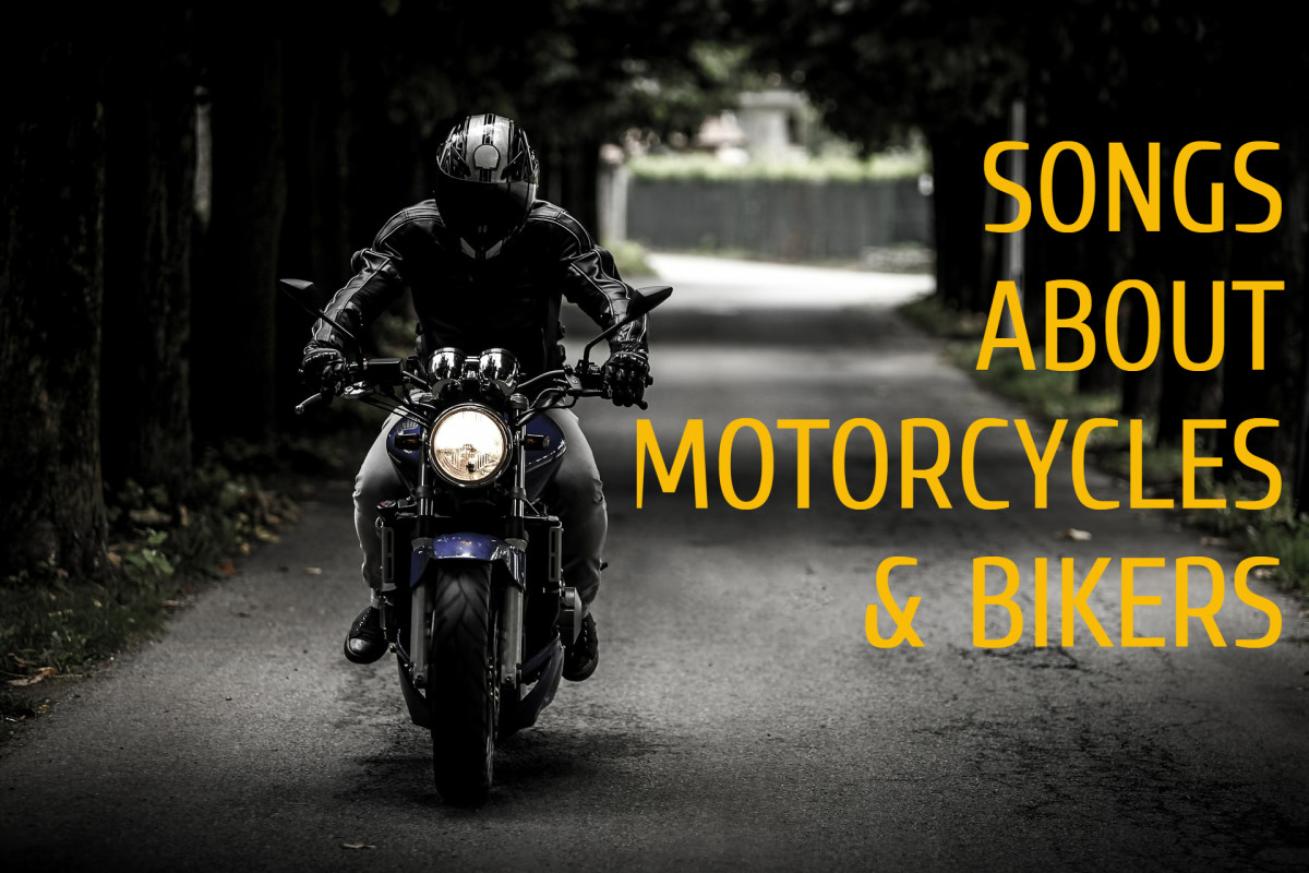 Put your helmet on, climb on your bike, and seek adventure on the wide open highway ahead with the help of a playlist of pop, rock, and country songs about motorcycles and bikers.