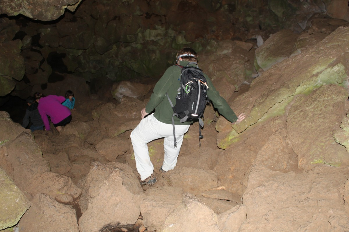 Hiking Underground in a Lava Tube