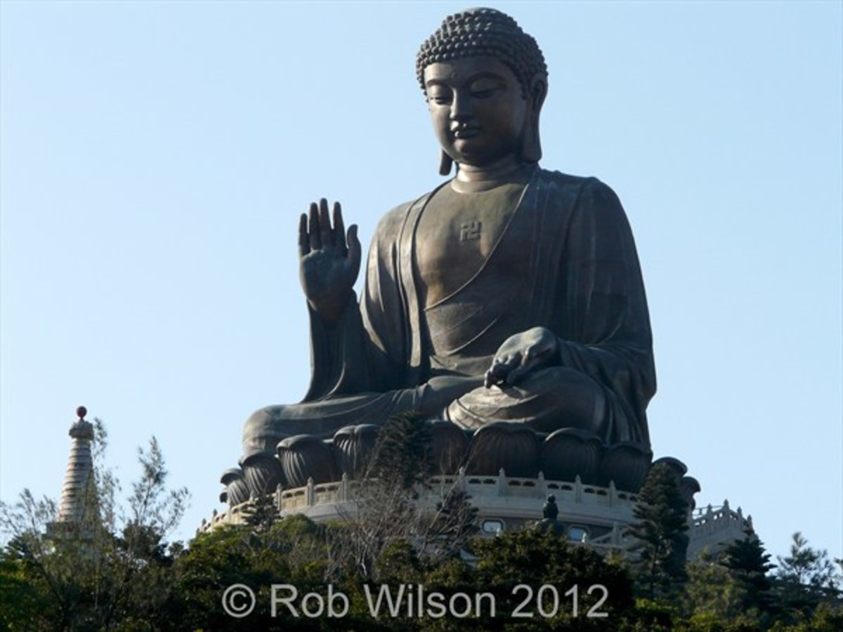 Tian Tan Buddha, or the Big Buddha at Ngong Ping near Tung Chung Hong Kong.