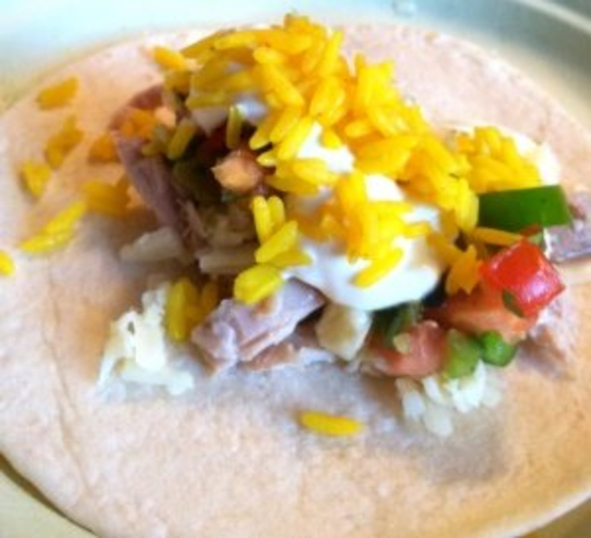 A taco with all the fixin's.