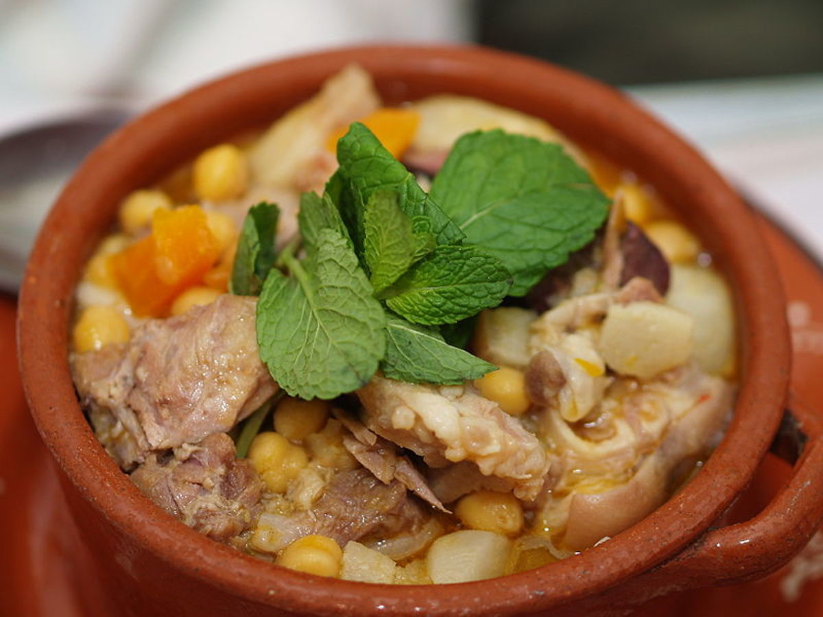 Cozido de grão, a typical portuguese dish, photographed in the city of Beja.