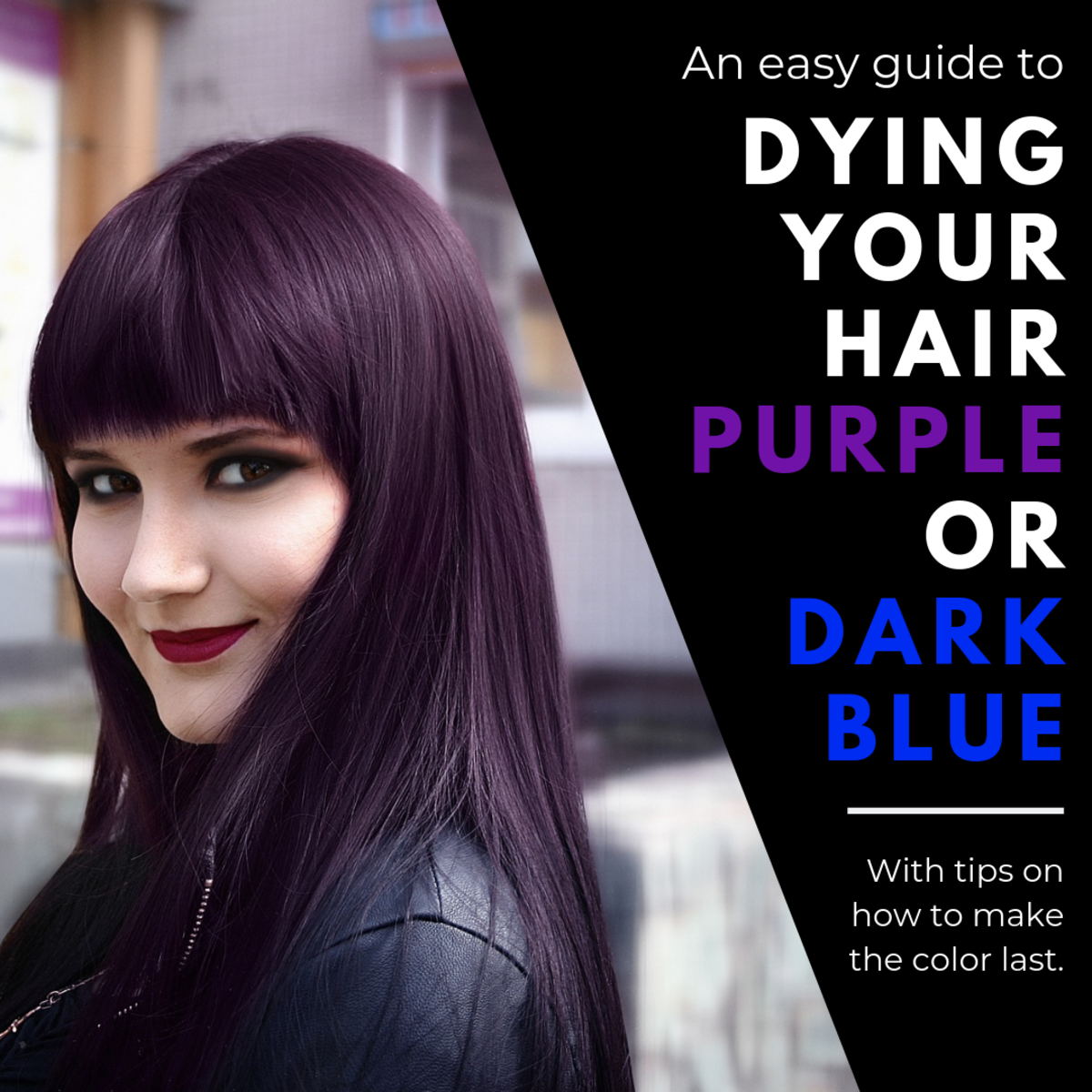 How to Dye Your Hair Dark Blue or Purple