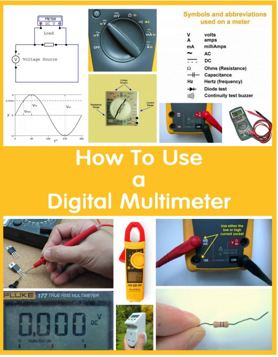 see wiring diagram of true rms circuit how to use a multimeter to measure voltage  current and resistance  multimeter to measure voltage  current