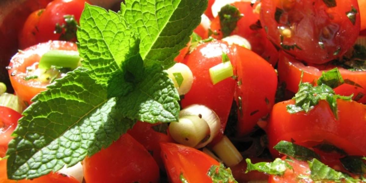 Indian tomato mint salad recipe