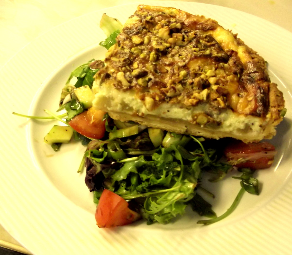 Quick Quiche Stilton, Pear and Nuts
