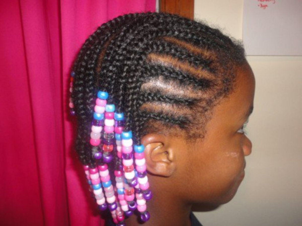 How To Braid Cornrows With Beads On Little Girls With African American Ethnic Hair Bellatory Fashion And Beauty