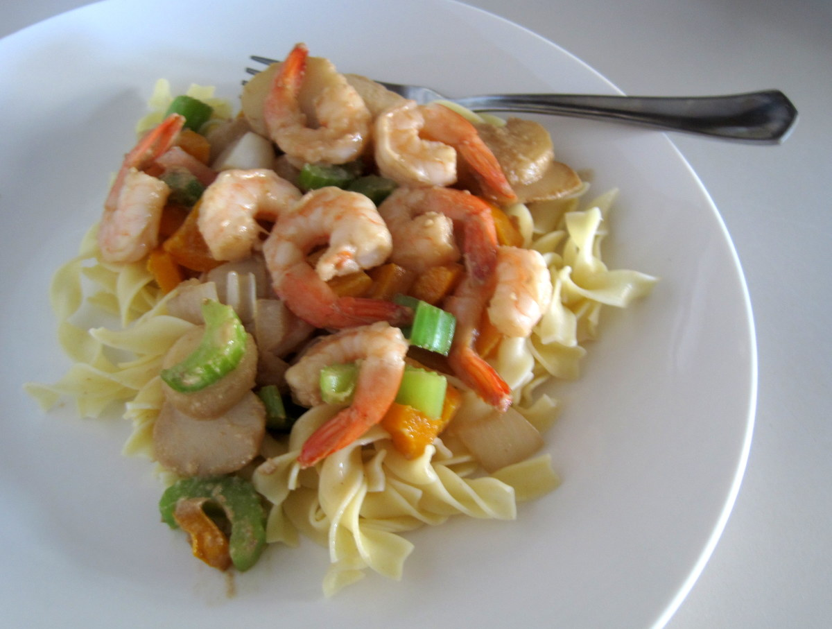 Easy Shrimp Stir Fry with Sesame Tahini Sauce Recipe