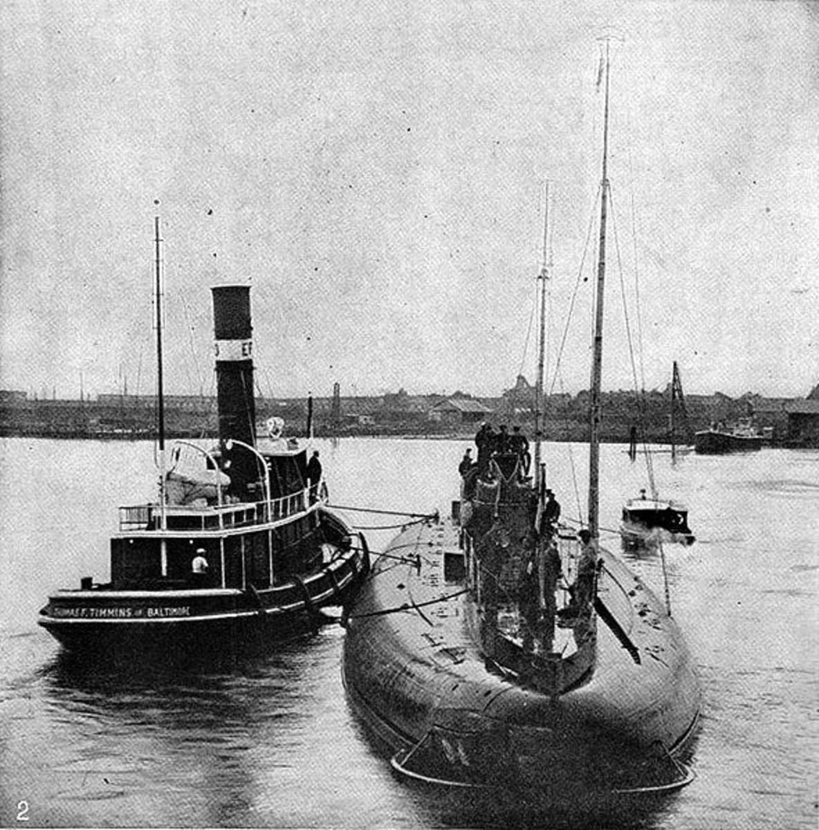 World War 1 History: 1916—German Merchant U-Boat Arrives In U.S.