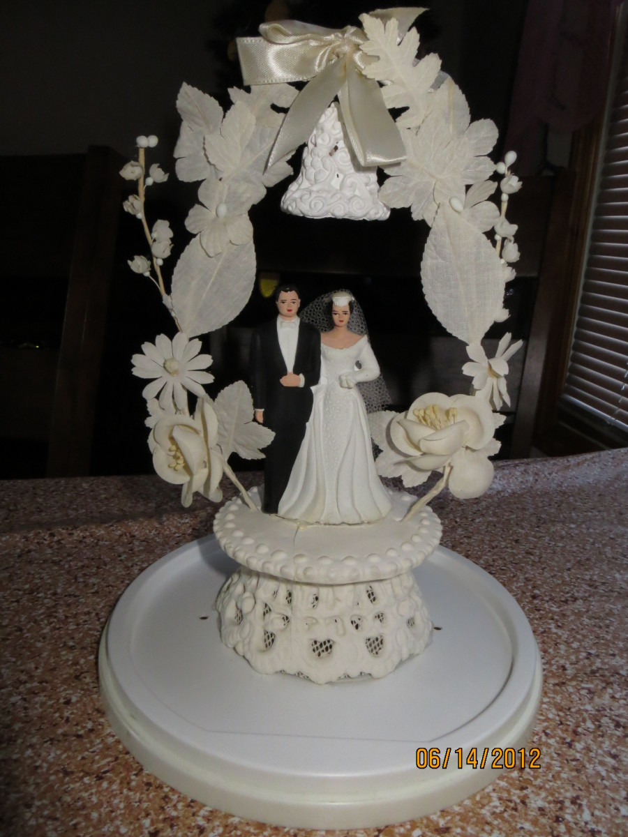 Our wedding cake topper (remember its 45 years old).