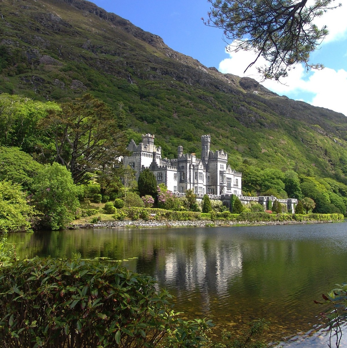 The beautiful Kylemore Abbey in Connemara, Co.Galway in the west of Ireland.