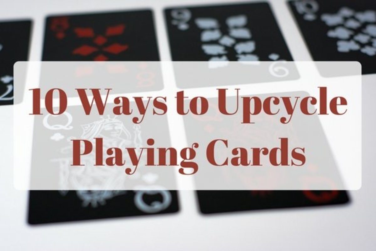 Don't throw away an old deck of cards. Upcycle them into creative projects!