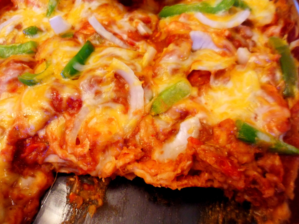 Serve your family this easy and delicious chicken fajita casserole.