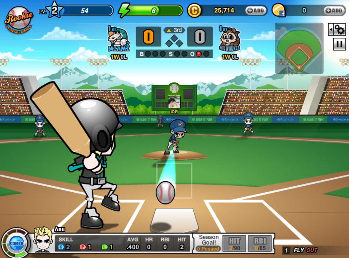 "An in-game shot of ""Baseball Heroes."""