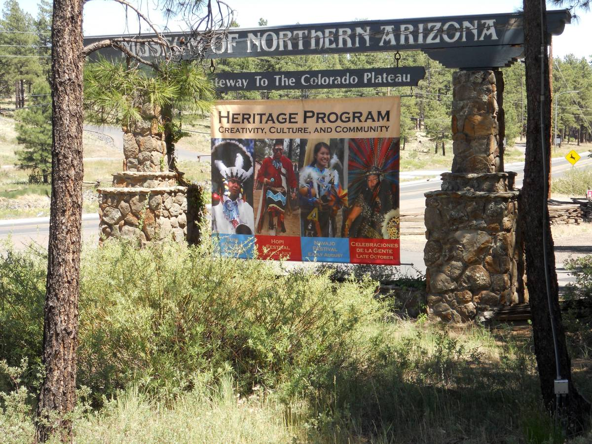 Entrance to Museum of Northern Arizona, Flagstaff, AZ