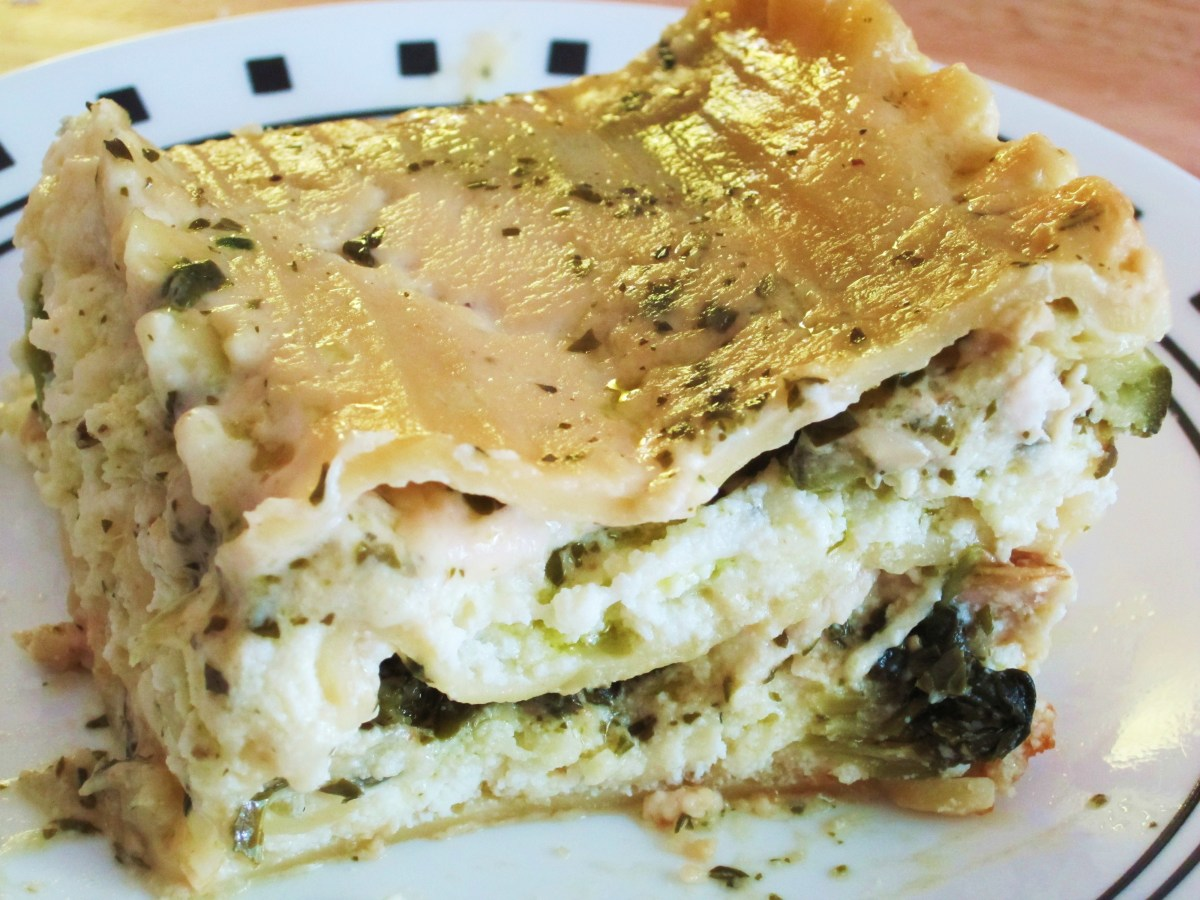 Chicken Alfredo and Pesto Vegetable Lasagna Recipe