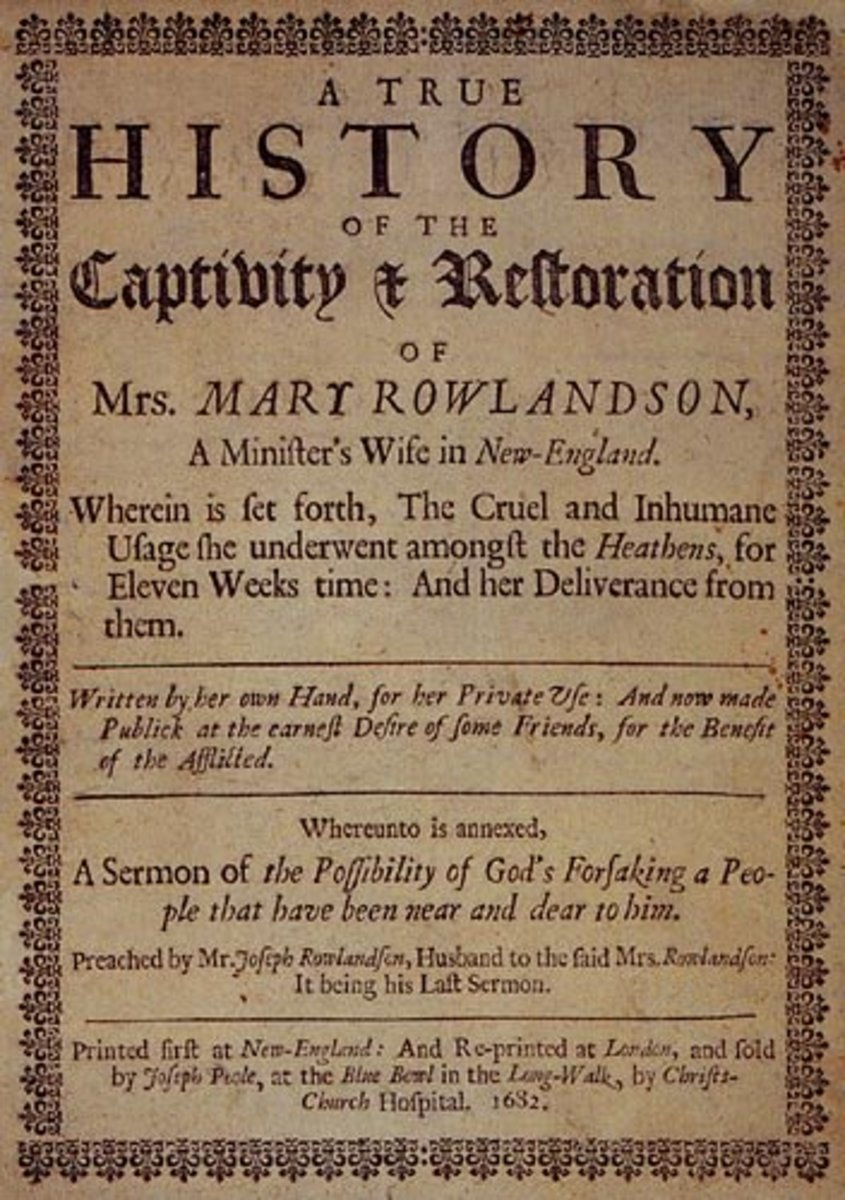 Summary of 'A Narrative of the Captivity and Restoration of Mrs. Mary Rowlandson' - the role of women in her removes
