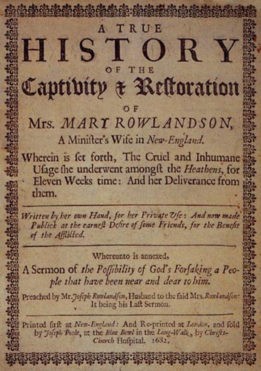 summary of a narrative of the captivity