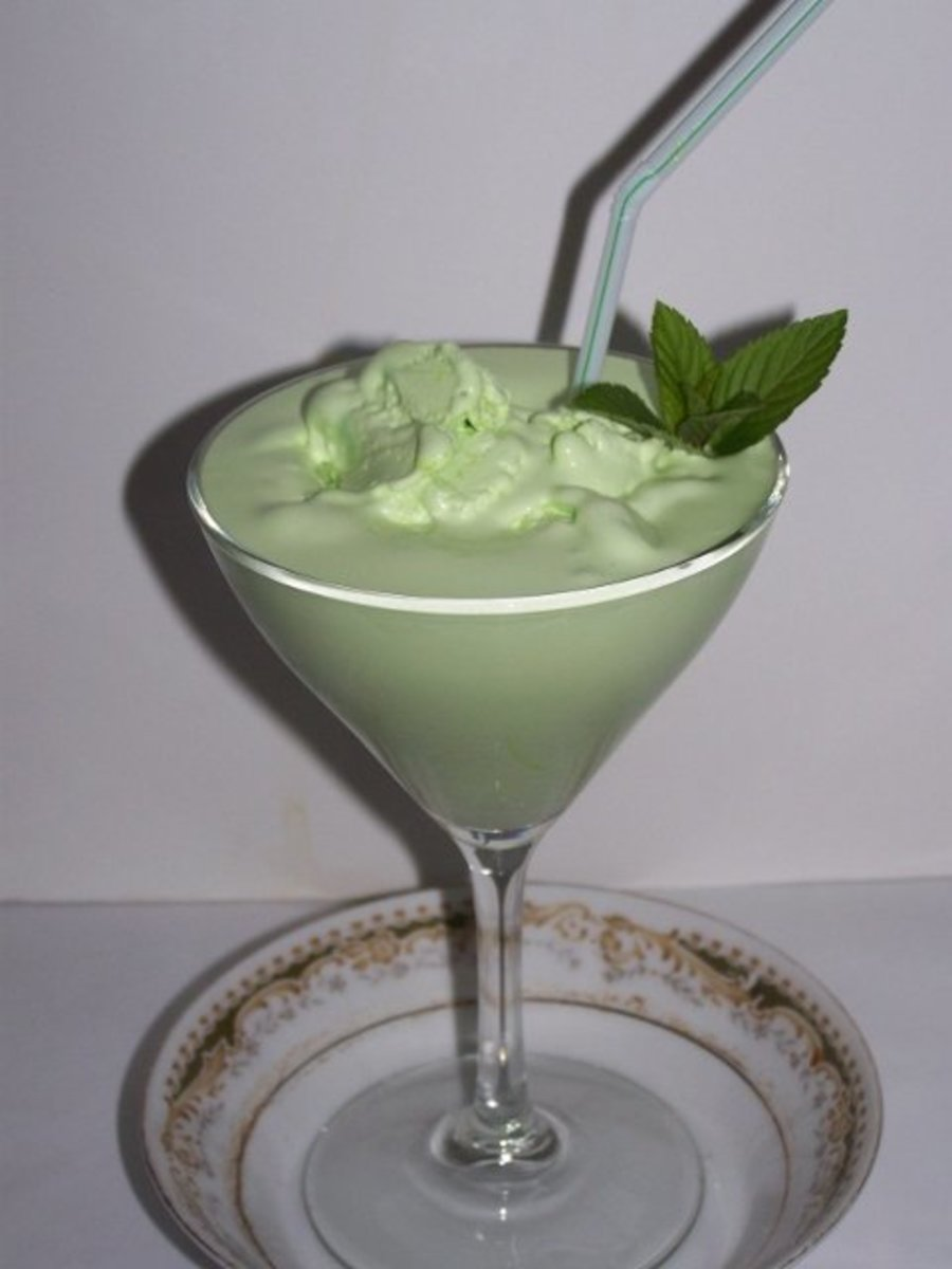 Make-Ahead Grasshopper Ice Cream Frozen Drink Recipe