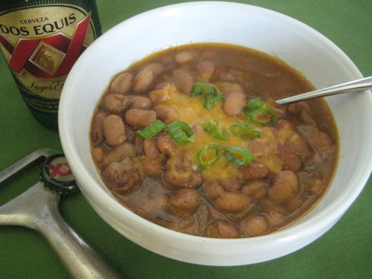 These homemade pinto beans take just minutes to throw together, then are slow-simmered to perfection.