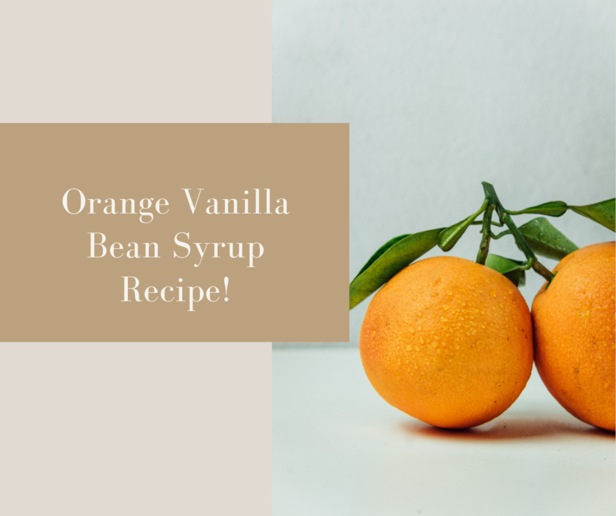 Orange Vanilla Bean Syrup