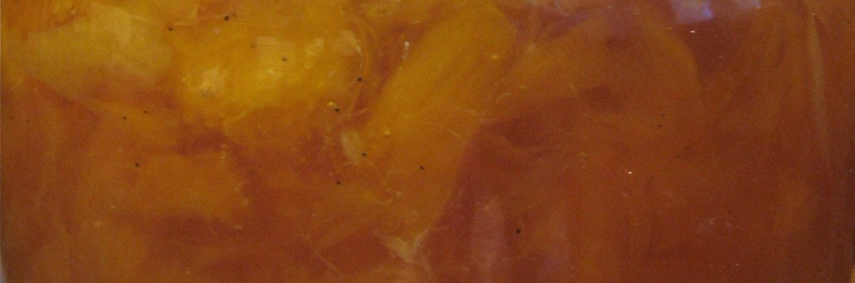 Orange vanilla bean marmalade - you can see the flecks of the vanilla bean seeds.