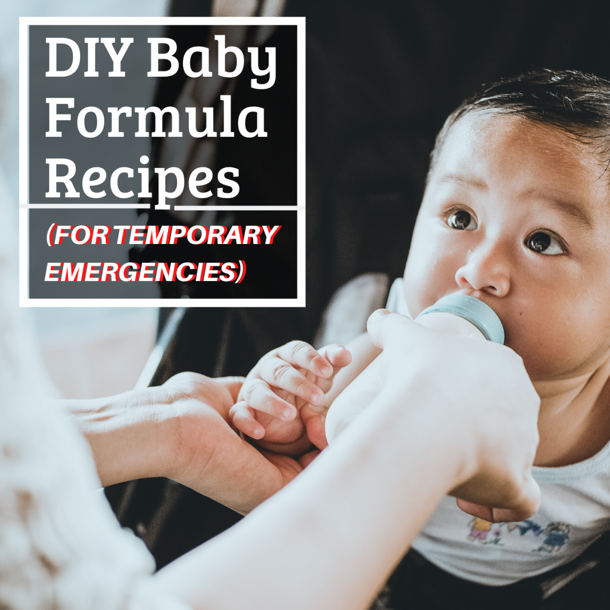 If you're temporarily stuck without formula and unable to get more, you can use one of these emergency recipes to safely feed your infant. These substitutes should not be used in the long term.