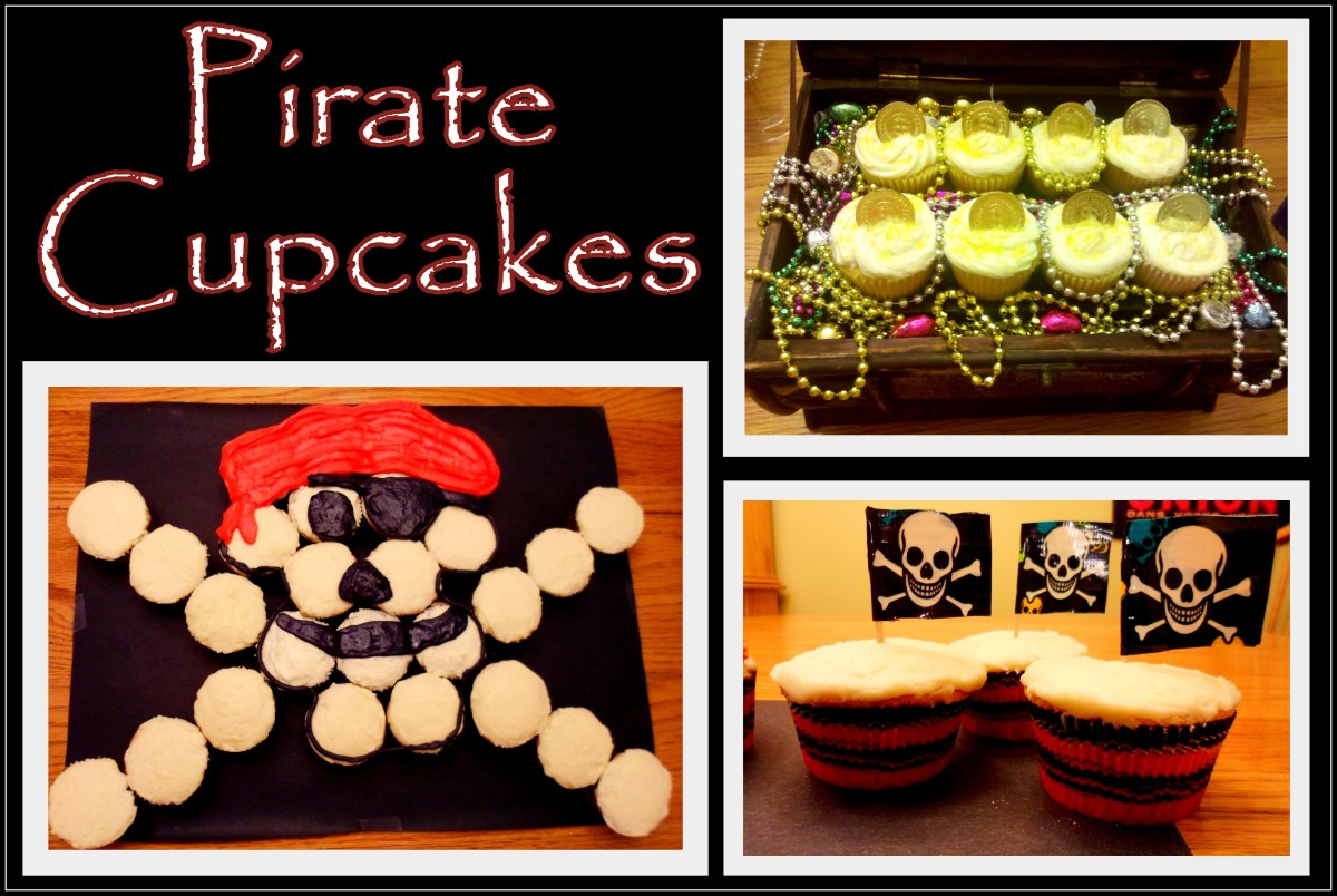 Fun decorating ideas for your pirate cupcakes.