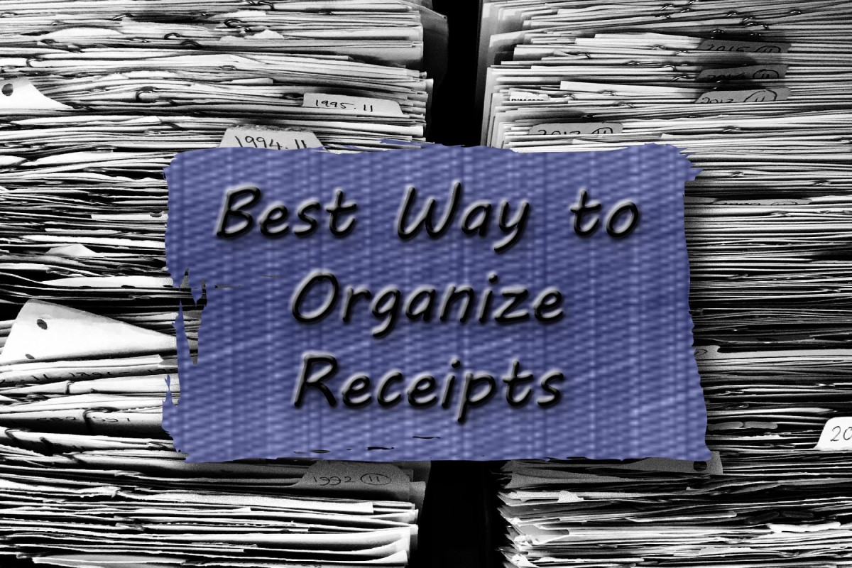 These easy steps can help you organize your receipts.