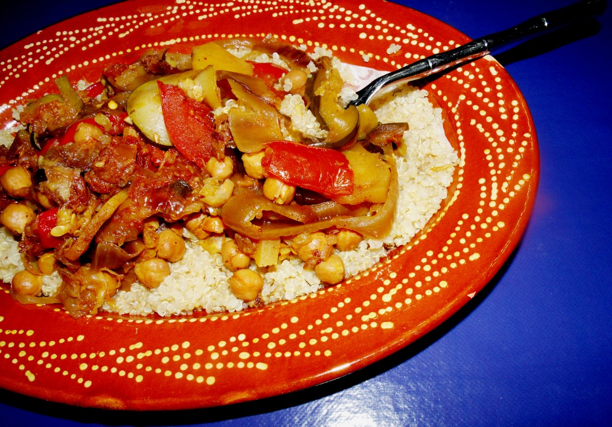 Recipe for Moroccan Vegetarian Vegetable Stew in a Slow-Cooker