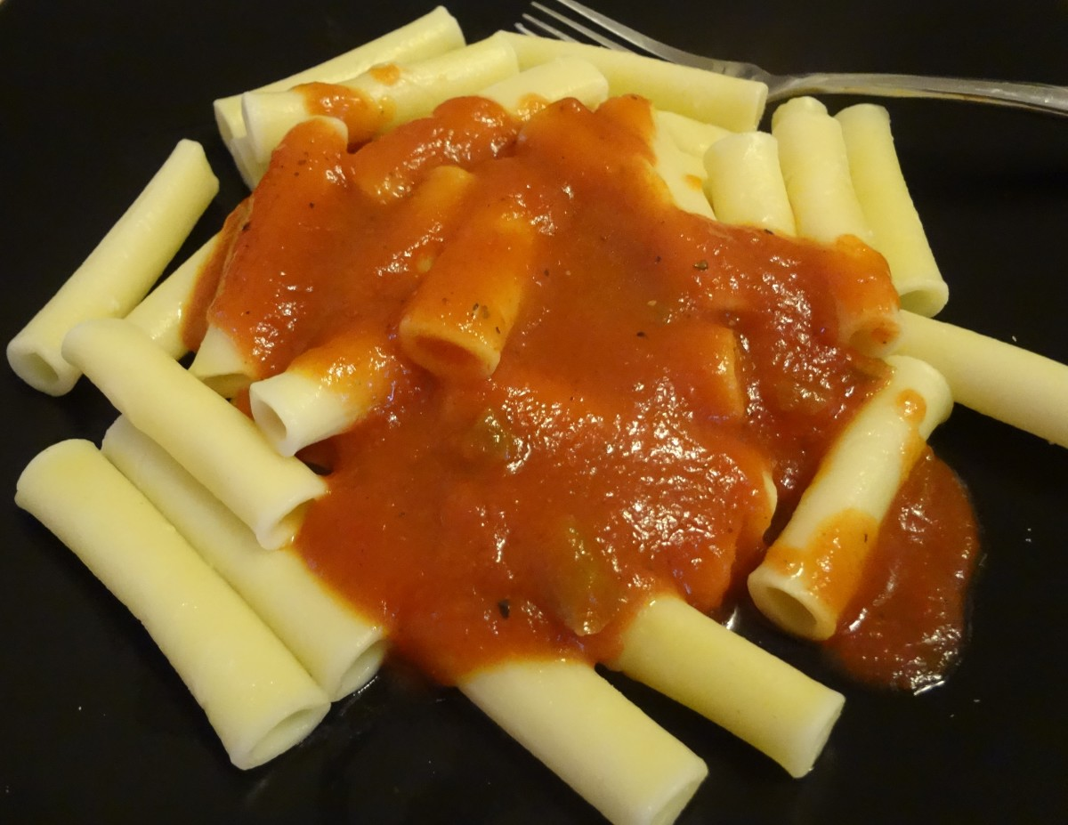 Delicious spaghetti sauce without the onions and the garlic.