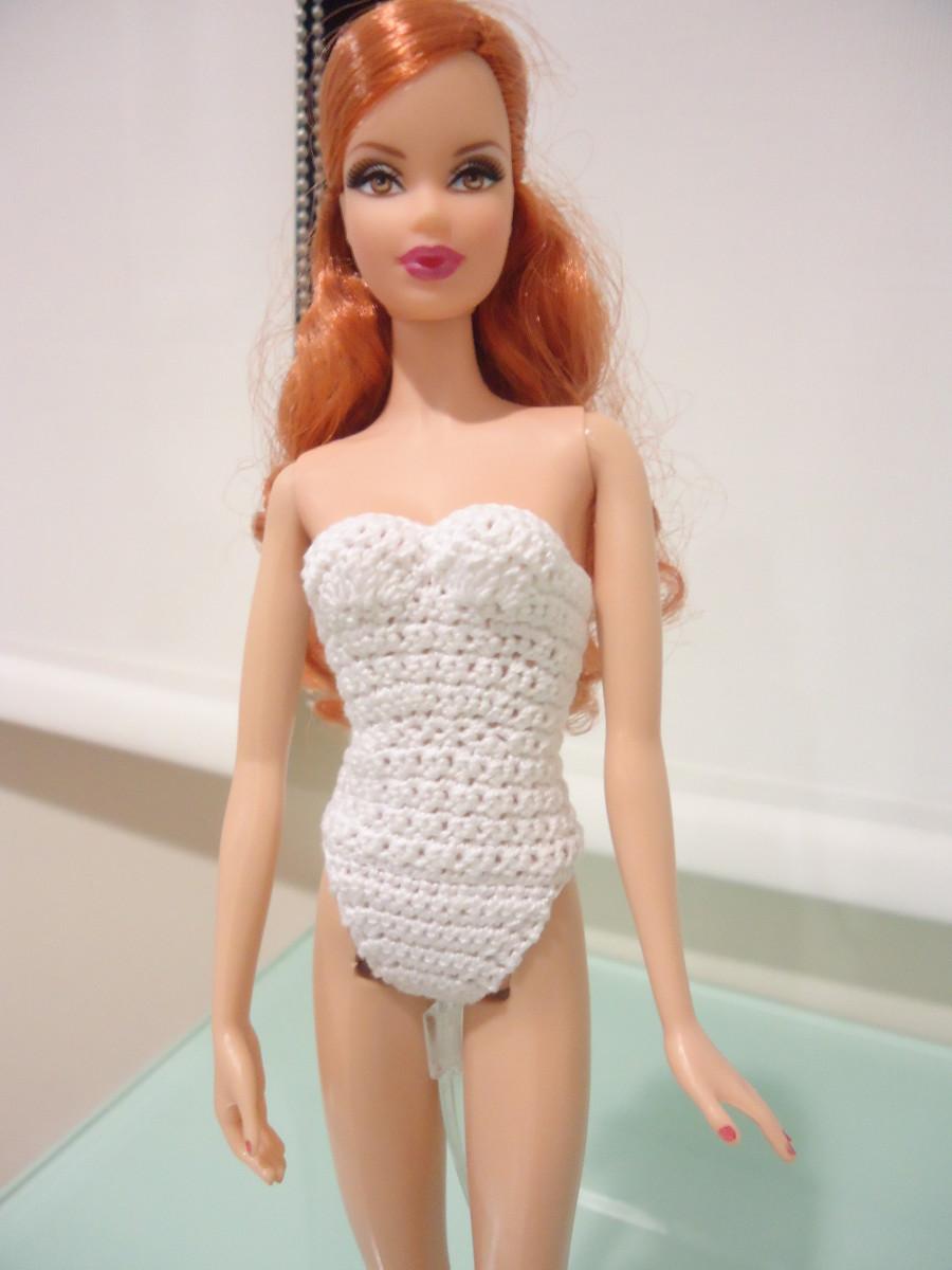Barbie Strapless Bodysuit (Free Crochet Pattern)   FeltMagnet