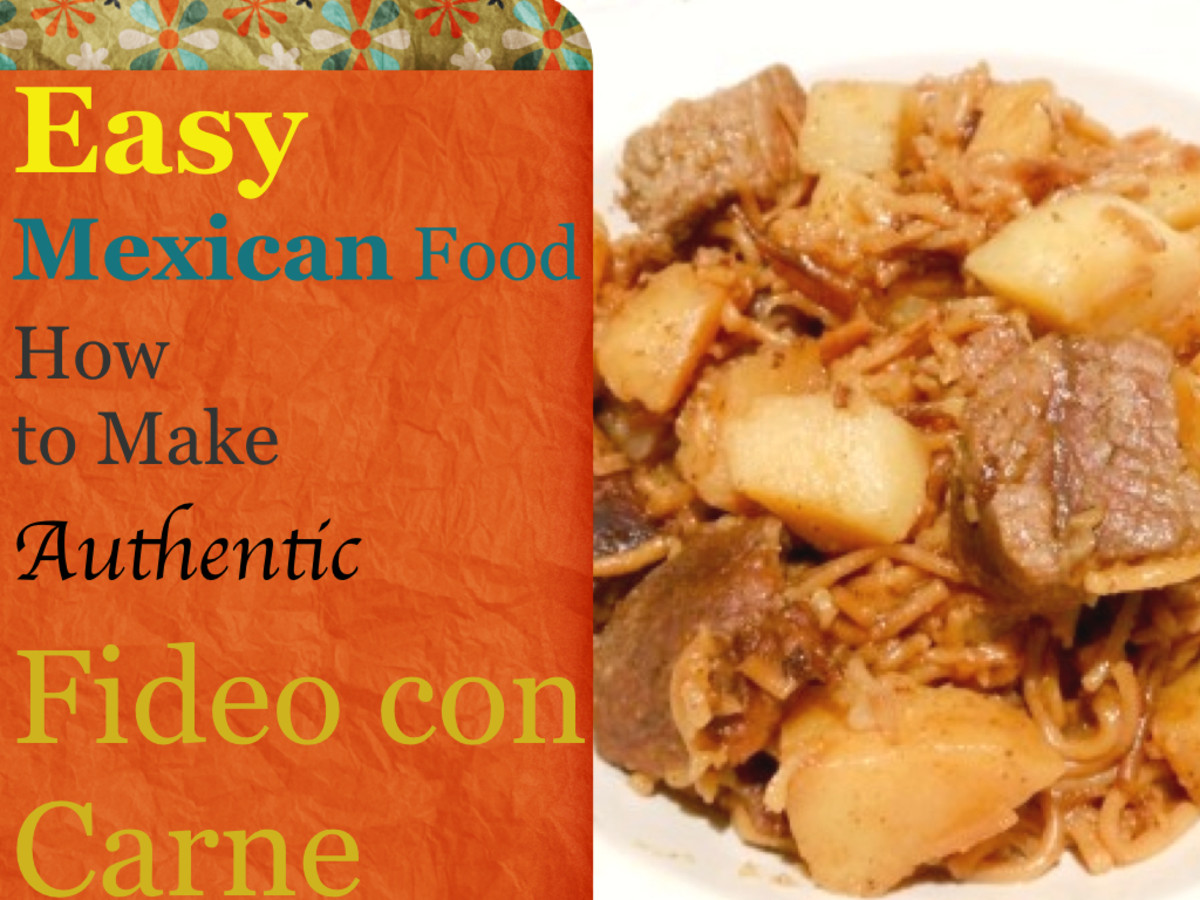 Fideo con carne y papas is a great family dish that tastes great and can feed 4-6 family members for under $10. Fideo (vermicelli) is a common staple in most hispanic households, it is versatile and at .28 cents a box - very economical.