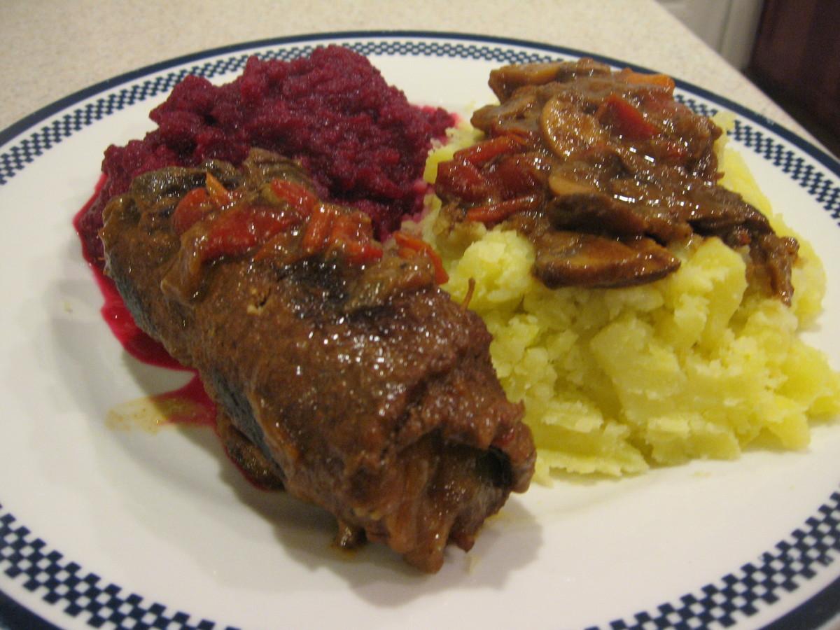Polish Beef Roulade or Zrazy Zawijane