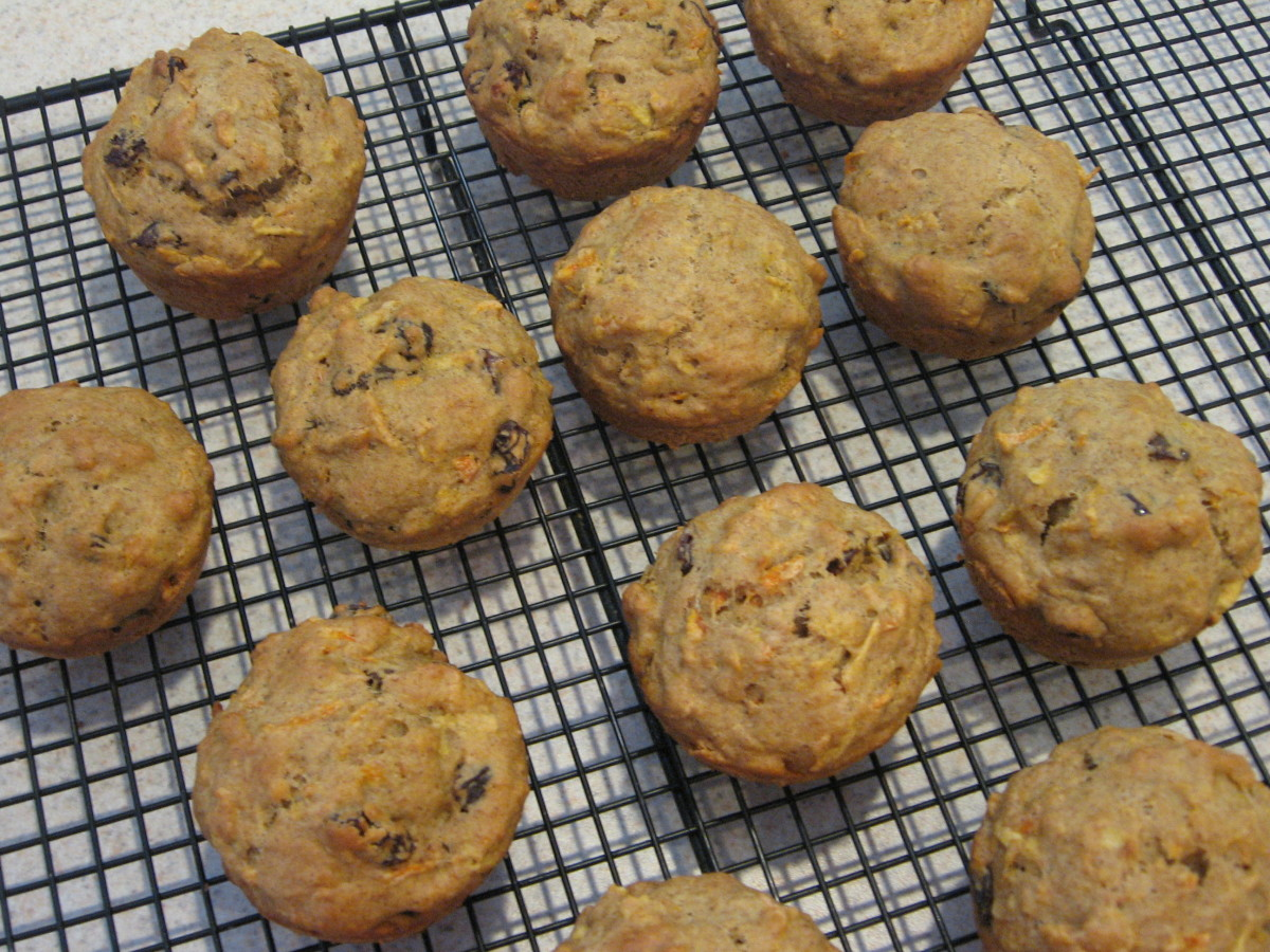 Healthy Carrot and Fruit Breakfast Muffins
