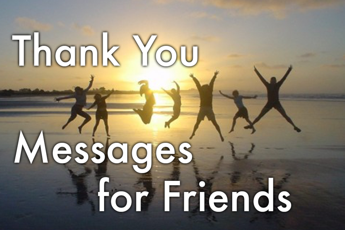 Here's a list of over 100 messages to help you say thank you to your most important friends.