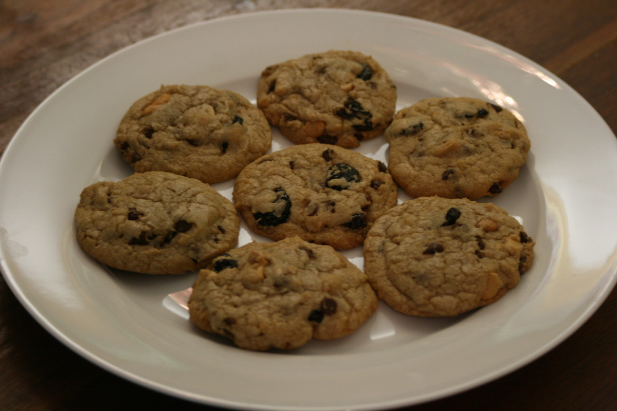Chocolate Cherry Cashew Cookies