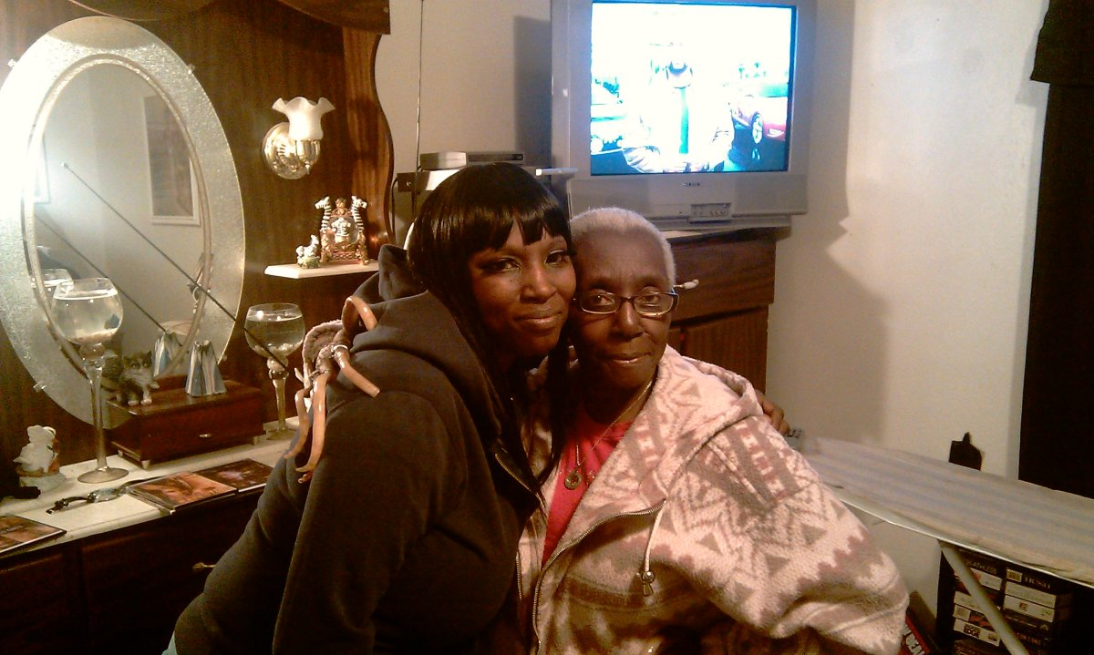 My aunt (left) and grandma (right)