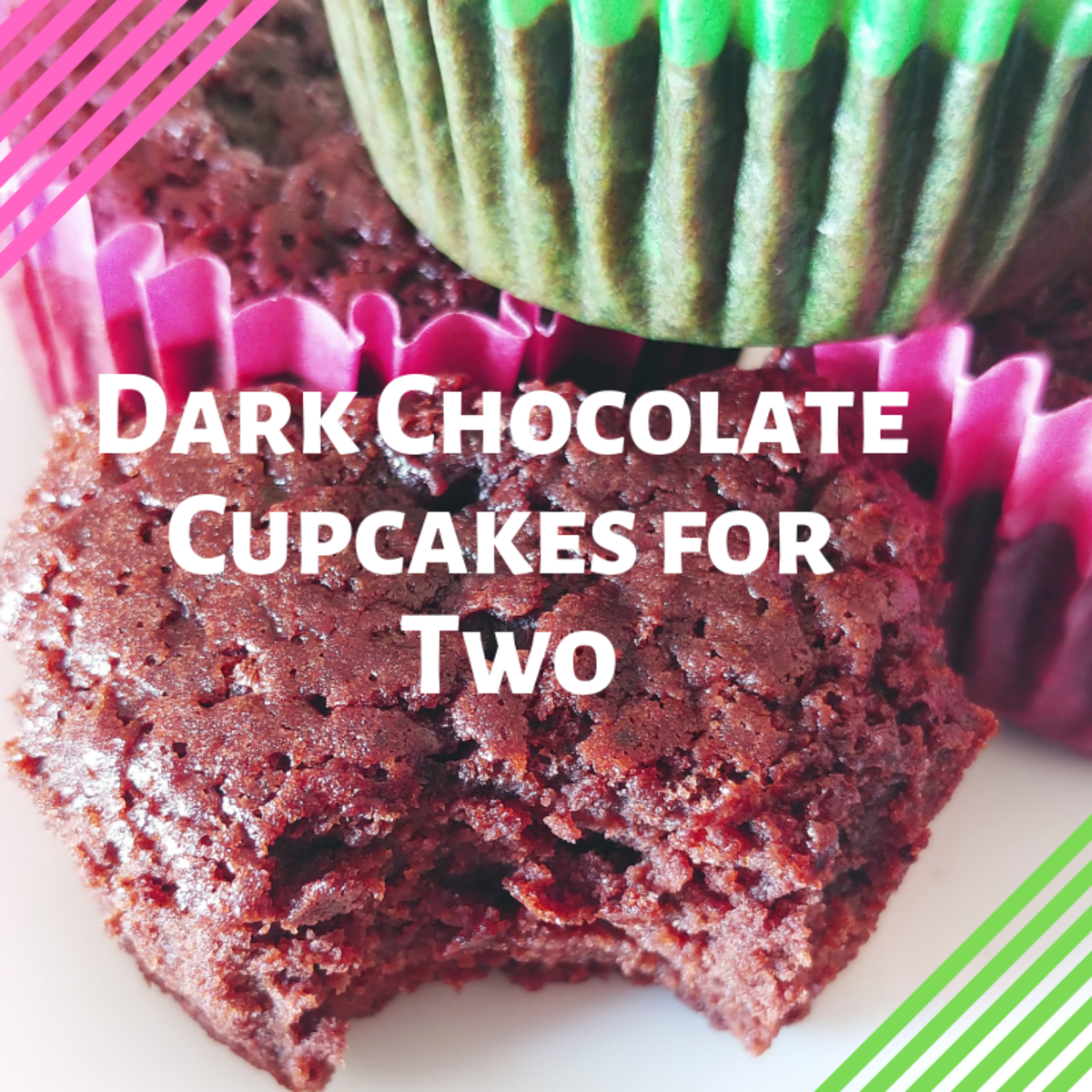 Dark Chocolate Cupcakes for Two