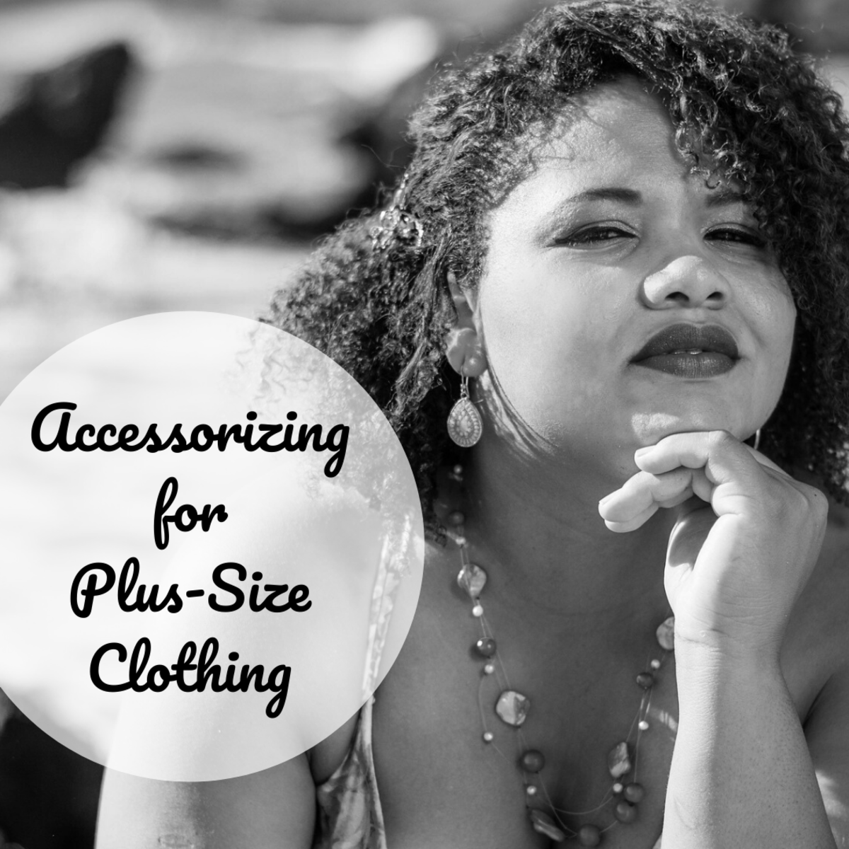 Get advice on jewelry, scarves, belts, purses and shoes for plus-size women.