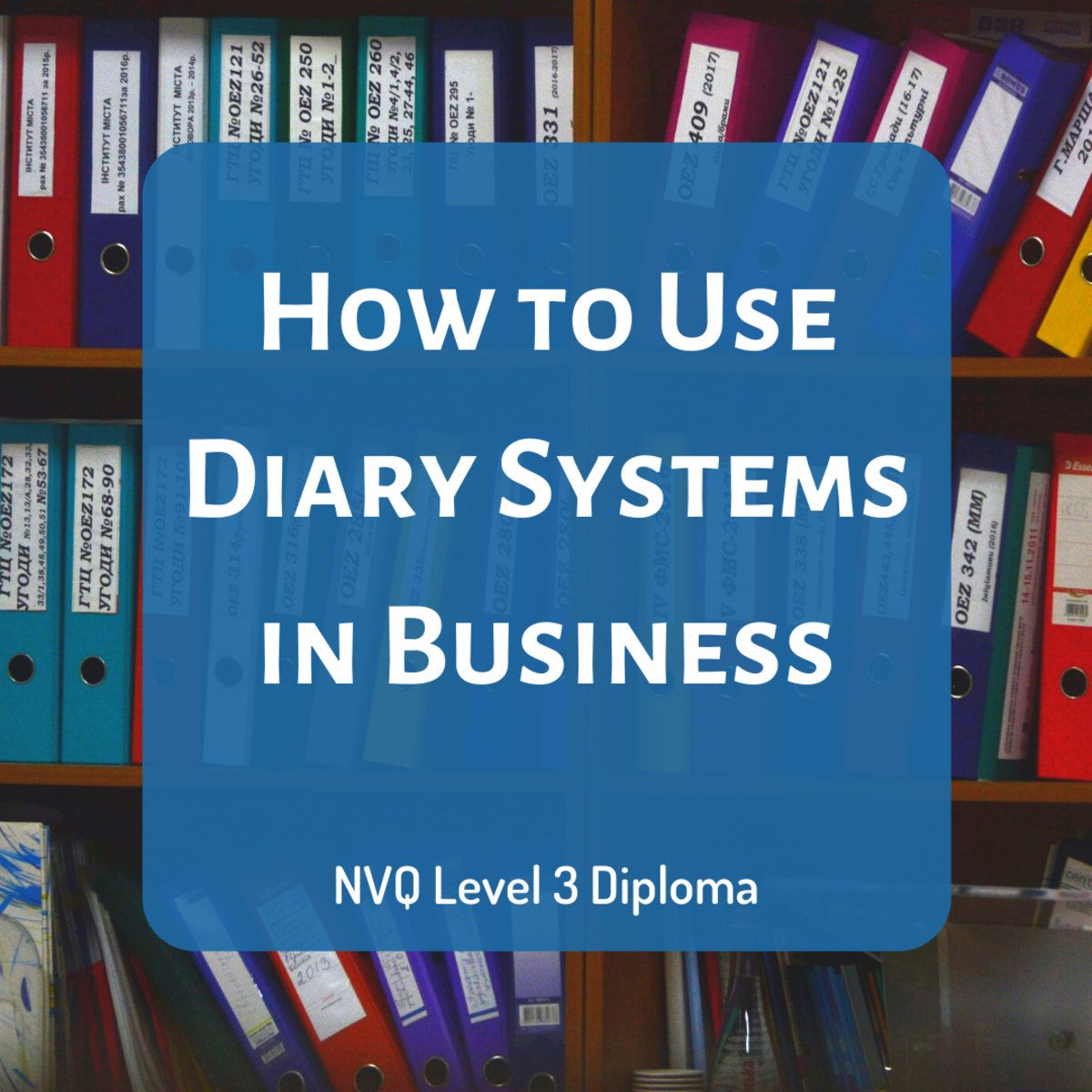 Review the use of diary systems in business administration, including the types of diaries available, the information that should be included, and how to securely store the entries.
