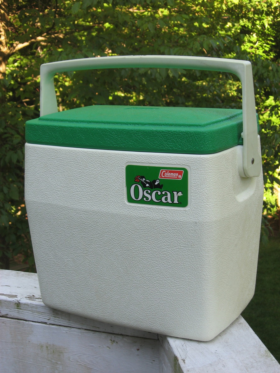 My sidekick Oscar - the Coleman Cooler