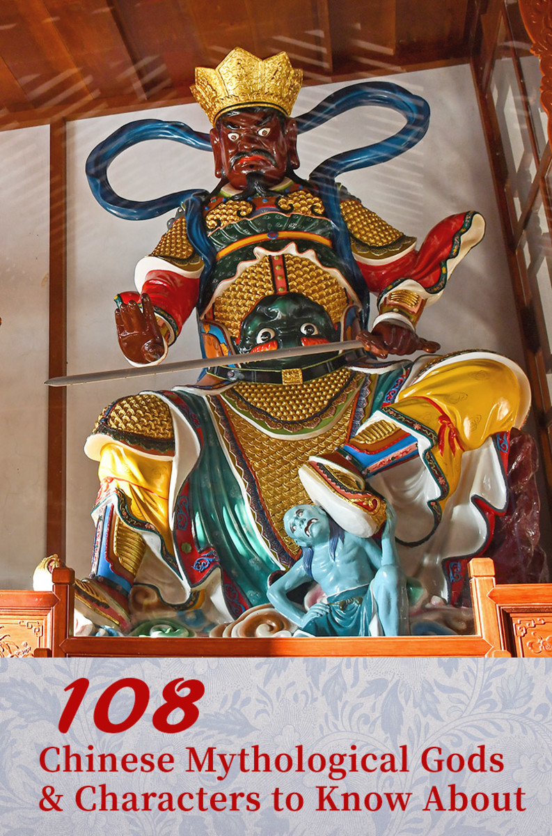 100 Chinese mythological gods and characters from Chinese religions, classical fiction, and folkloric worships.