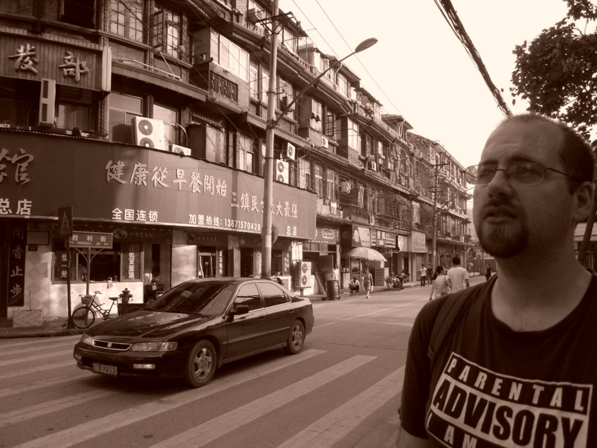 A picture of me somewhere in Wuhan.