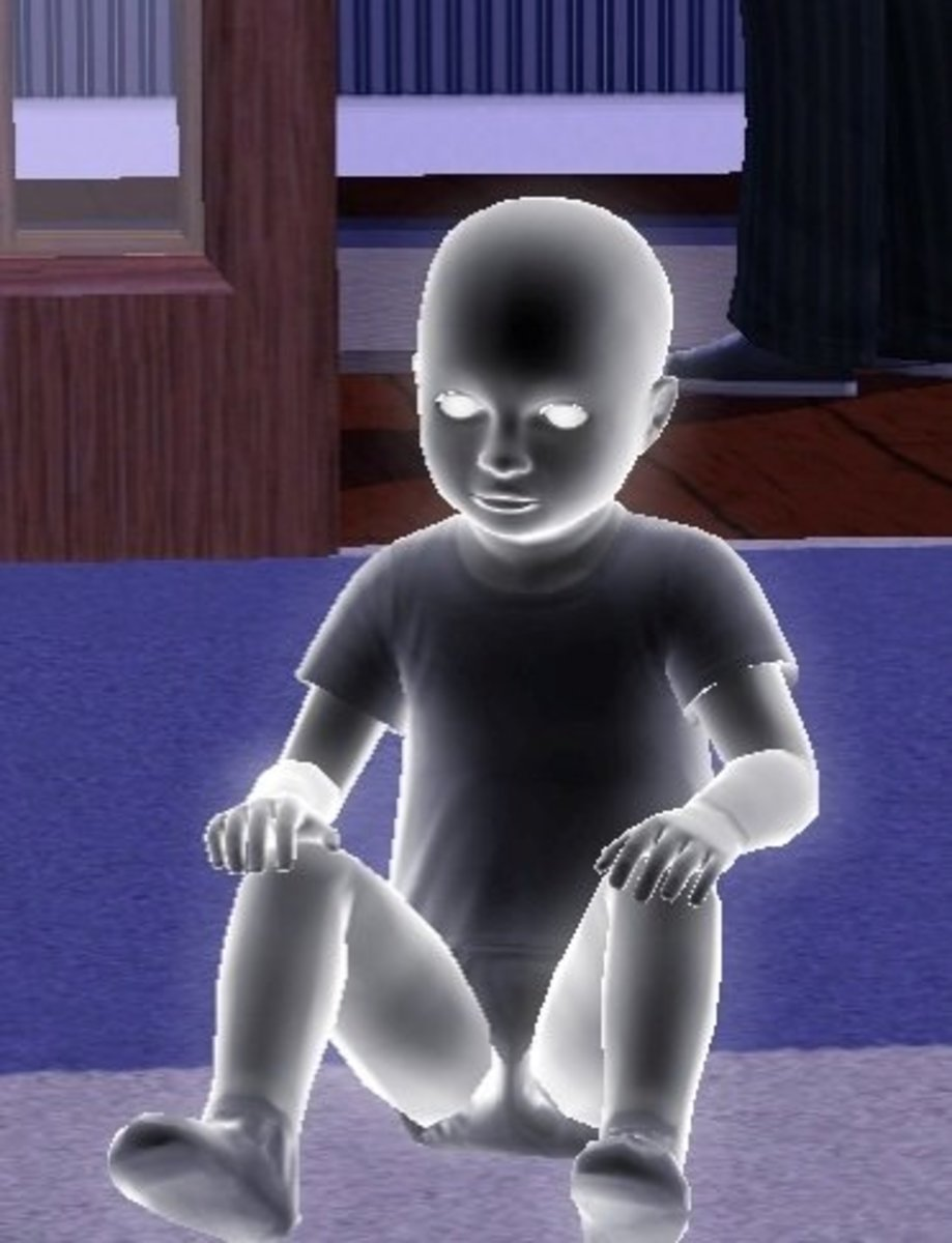 a toddler ghost Sim.