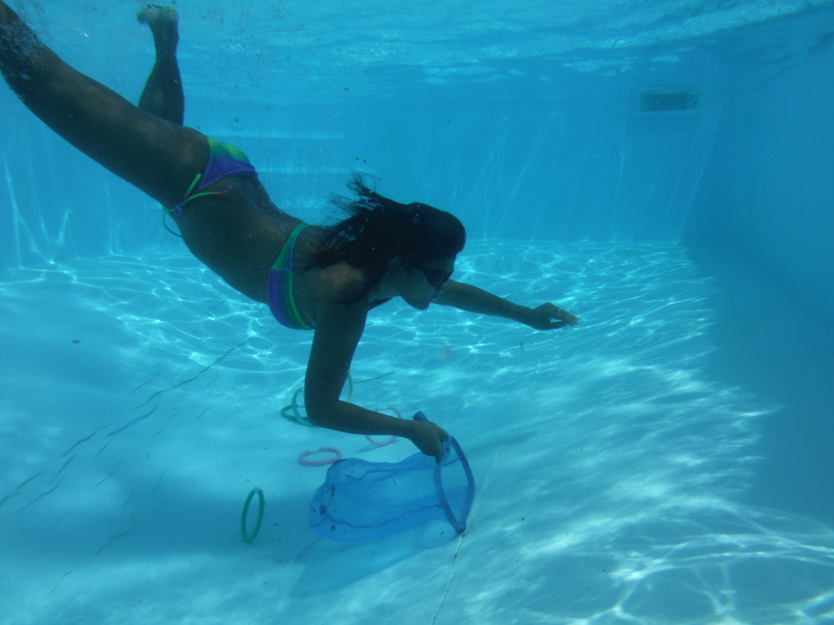 Prevention tip: We take a net in the pool every time we swim just to take out any material that has fallen in.