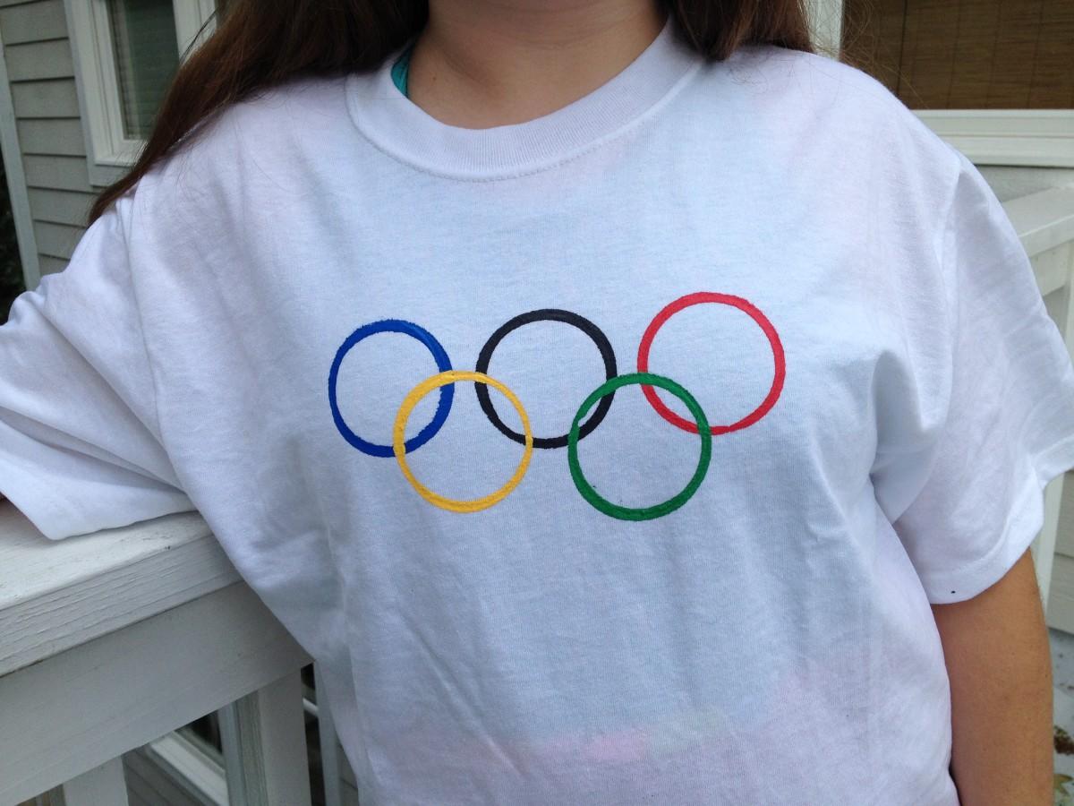 DIY Olympic rings t-shirt