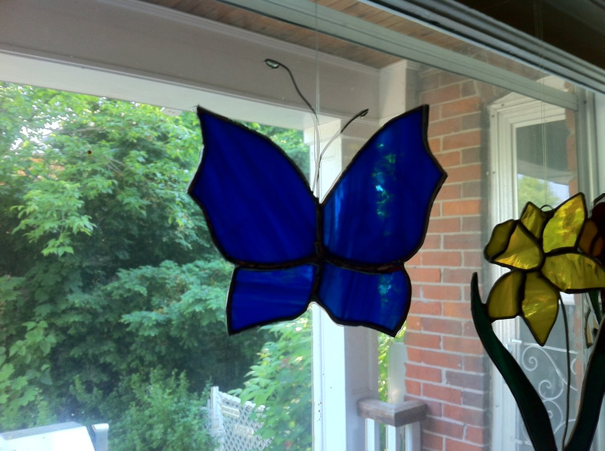 Making Stained Glass Butterflies-Step by Step Instructions